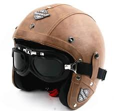 <b>Hot</b> Sell Men <b>Vintage Leather</b> Motorcycle Helmet Open Face <b>Retro</b> ...