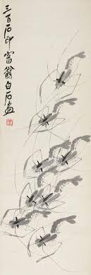 eight shrimps by qi baishi