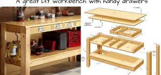 build this simple workbench with drawers