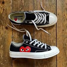 converse 70s low black. converse 70s play cdg low black white - ct chuck taylor k