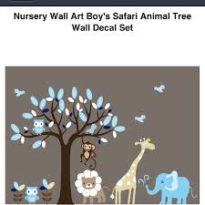 nursery wall art boy s safari animal tree wall decal set 79 99 on overstock  on baby safari nursery wall art with 16 best baby ideas images on pinterest babies rooms baby room and