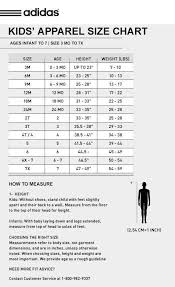 Adidas Boys Size Chart Adidas Youth Shorts Size Chart