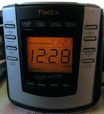 timex digital clock radio