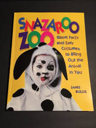snazaroo zoo animal face paint and costume book kid 90 pages