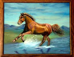 horse painting horse oil painting horse wall art horse print canvas oil painting running horse painting animal painting running horse beach