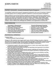 Property Management Resume Examples