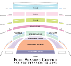 Four Seasons Centre Performing Arts Toronto Seating Chart Seating Map