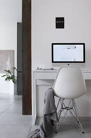 home office work room furniture scandinavian. Home Office Work Space Vitra Eames Chair Apple Imac Scandinavian Living Industrial Style Room Furniture E