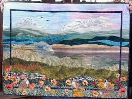 Pictures of Landscape and Art Quilts & Three Sisters Mountain Quilt Adamdwight.com
