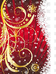 Vertical Christmas Card Vector Illustration Of Backgrounds Textures