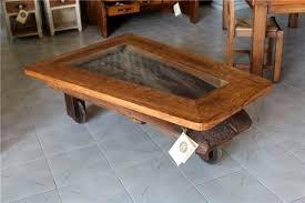 rustic coffee table 62 66 el roure
