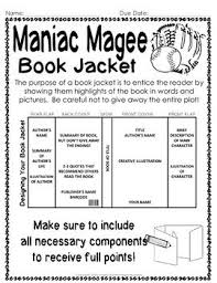 maniac magee project create a book jacket by happyteacherhappystudents teachers pay teachers