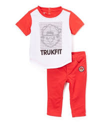 Trukfit True Red White Trukfit Tee Pants Toddler Boys