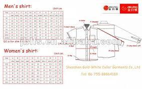 Neck Size Chart Dress Shirt Coolmine Community School