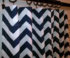 Navy And White Curtains Pair Of 2 Panels 50 X 84 Navy Blue And White Designer Custom
