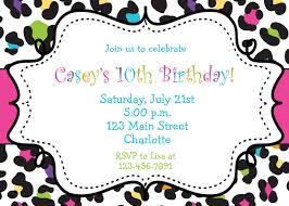 Free Templates For Invitations Birthday free printable birthday party invitations for teenagers Petit 1