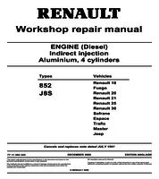 renault trafic workshop manuals workshopmanual com engines 852 j8s workshop repair manual