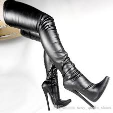 free women 7 extreme high heels crotch boots y sti thin heel shoe over the knee zip boot thigh high boots botas 18c