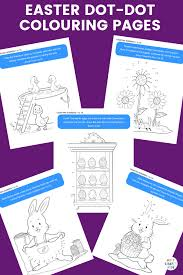 Easter Dot To Dot Colouring Pages Arty Crafty Kids