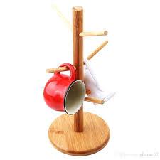 tea cup racks tree shape wood coffee tea cup storage holder stand home kitchen mug hanging