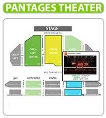 61 Prototypal Seating Chart For Pantages Theatre Hollywood