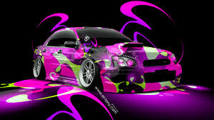subaru wrx sti jdm super abstract car
