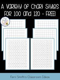 Free 120 Chart Ferns Freebie Friday 100 Chart And 120 Chart Freebie