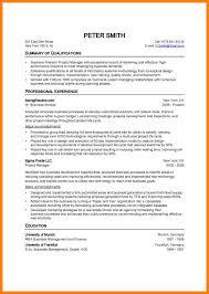 8+ Standard Curriculum Vitae Sample | Phoenix Officeaz