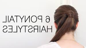 Quick Ponytail Hairstyles Simple Ponytail Hairstyles For School Dailymotion Fusion Hair
