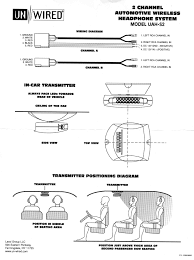 unwired dual source ir stereo headphone system wiring diagram