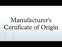 Example Certificate Of Origin Mesmerizing Manufacturer S Certificate Of Origin Statement Template Sharkk