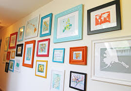... Cheerful Image Of Home Interior Wall Decoration Design With Various  Cool Framing Wall Decor : Lovely ...