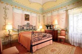 Lovely Wall Painting And Traditional Italian Bedroom Furniture