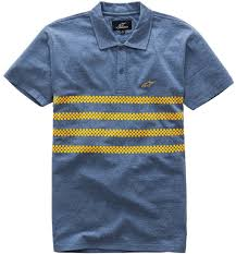 alpinestars perpetual stripe polo shirt clothing t shirts casual blue yellow alpinestars leather jacket for alpinestars gp pro gloves for enjoy