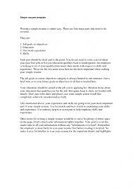 Cover Letter Basic Resumes Templates Basic Resume Templates For
