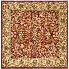 heritage red gold 6 ft x square area rug rugs 7 n