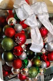 Decorating Christmas Ornaments Balls Glass Ball Ornament Wreath tutorial 69
