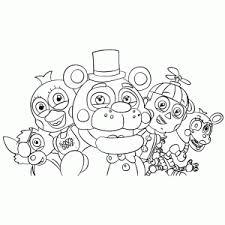 Leuk Voor Kids Five Nights At Freddys Kleurplaten