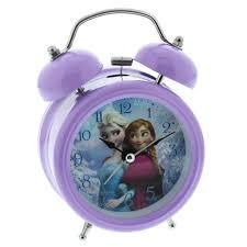 Disney Frozen Elsa U0026 Anna Lilac Childrenu0027s Alarm Clock Bedroom Accessory