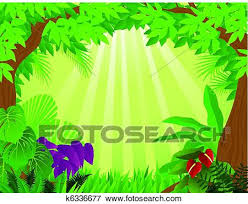 jungle background clipart. Delighful Clipart Clip Art  Tropical Rainforest Background Fotosearch Search Clipart  Illustration Posters Drawings Inside Jungle Background Clipart E