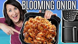 perfect air fryer blooming onion with