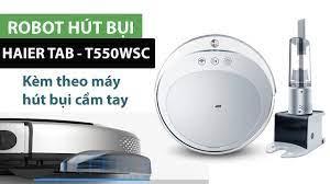 Mở hộp và giới thiệu Robot thông minh hút bụi lau nhà tự động Haier  TAB-T550WSC - YouTube