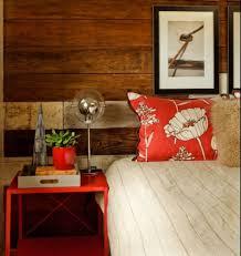 Modern Rustic Bedroom Bedroom Modern Bedroom Design With Rustic Wood Wall Panel Feat
