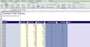 apple mac ms excel column header selection using filters