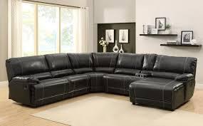 black reclining sectional sofa homelegance cale set bonded leather match he u9608