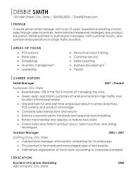 Assistant Store Manager Resume Sample. Store Manager Resume Template ...