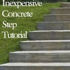 Diy concrete step Poured Concrete Inexpensive Diy Concrete Steps Tutorial Page Pinterest Inexpensive Diy Concrete Steps Tutorial Page Gardening