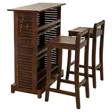 Riviera 3pc Wood Patio Bar Set Brown Christopher Knight Home