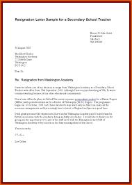 Teacher Resignation Letter Apa Examples