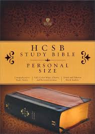 Hcsb Personal Size Study Bible Black And Tan Imitation Leather